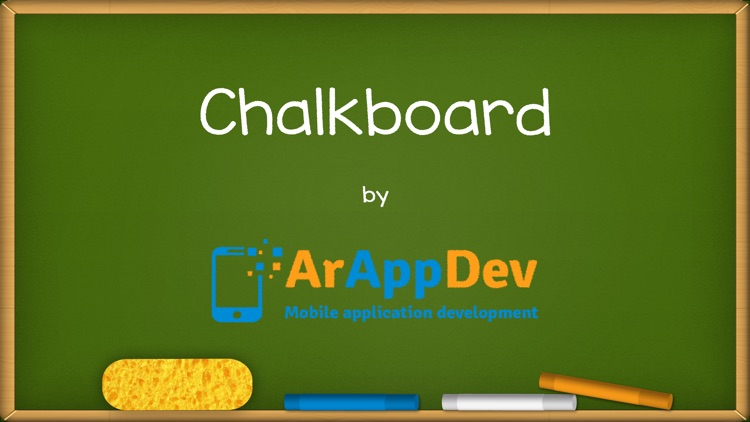 Chalkboard for kids : free drawing and colouring with realistic chalk