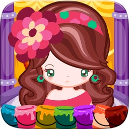 Little Girl Fashion Coloring World Drawing Educational Kids Game