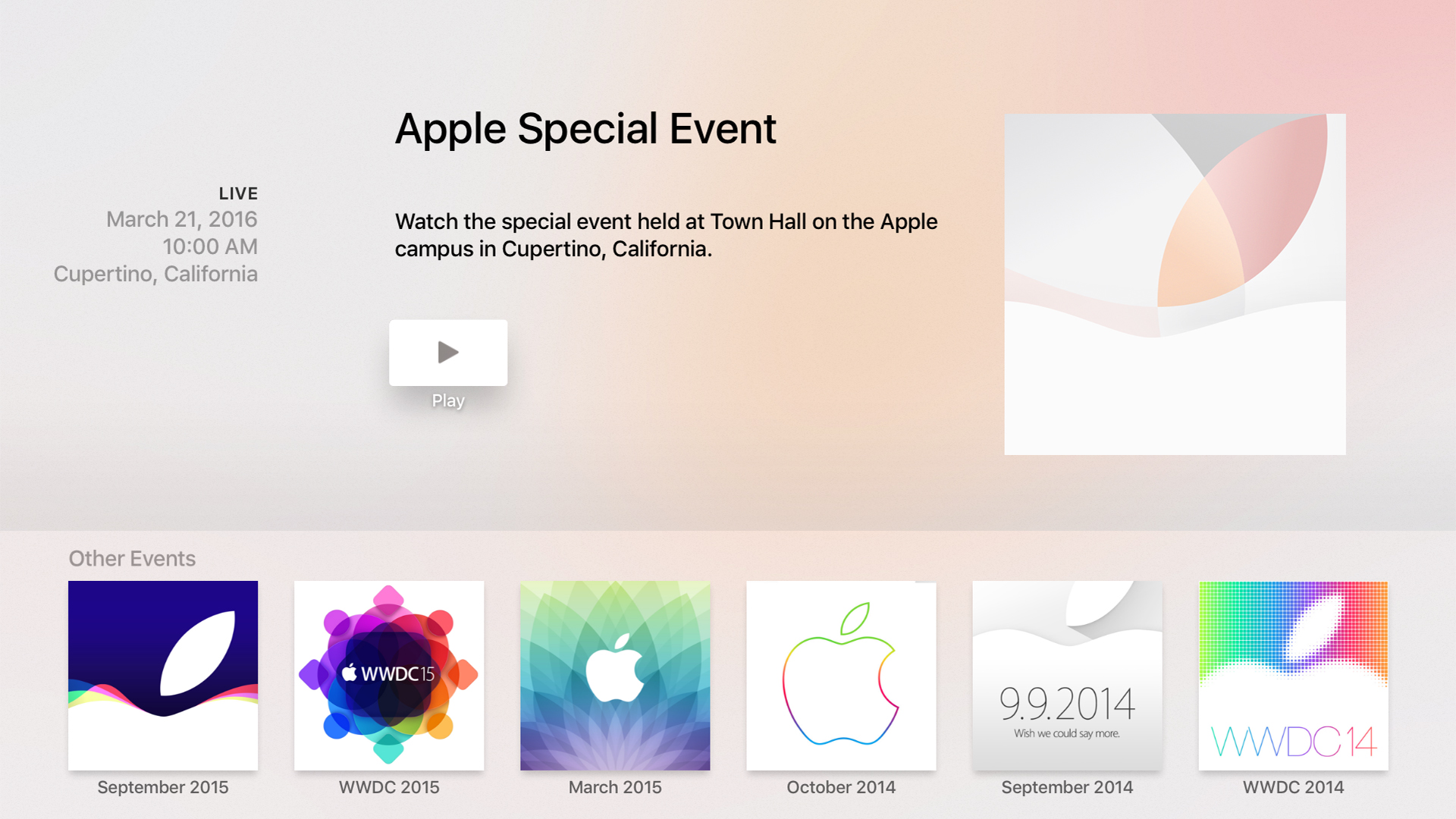 Apple Events screenshot 1