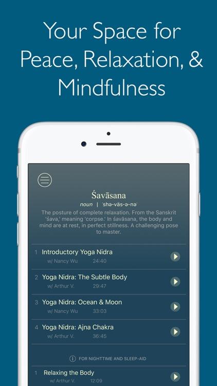 Śavāsana   Relaxation & Guided Meditation