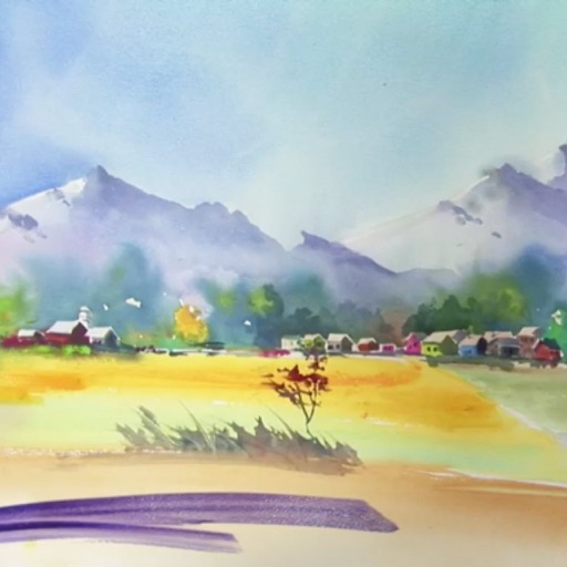 Watercolor Painting a Landscape