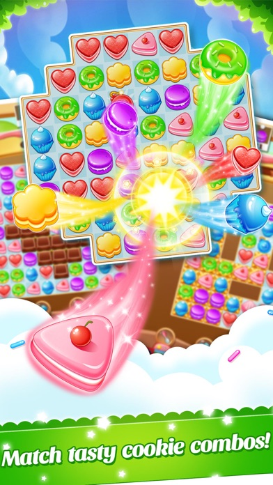 Cookie Fever 2 - Blast candy to win the scrubby pet screenshot two