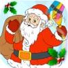 着色书和圣诞假期页从 3 至 6 年的圣诞节