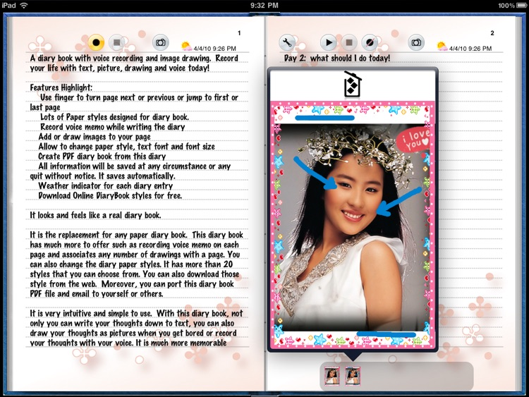 Diary Book for iPad screenshot-3