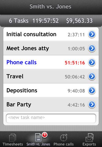 Screenshot of iPunchclock