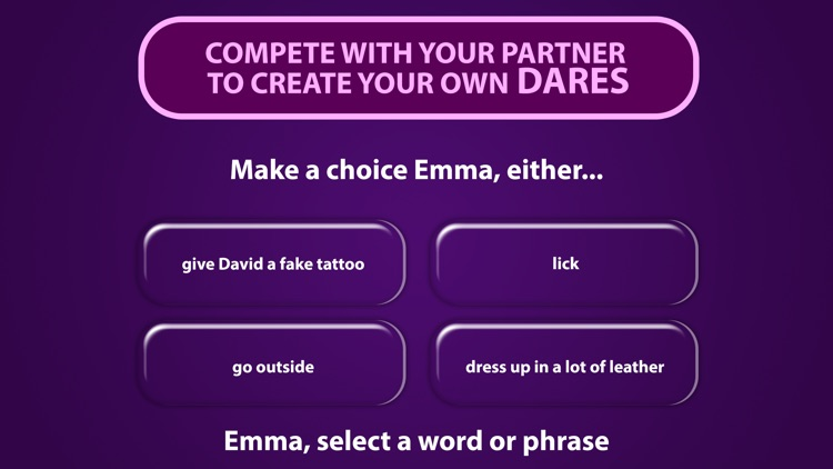 Dare Maker - A Sex Game For Couples