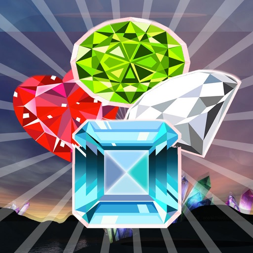 Mine Diamonds Cascade - Match-3 Game