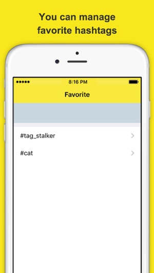 tag stalker - favorite tweets of hashtags viewer for Twitter
