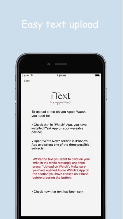iText for Apple Watch by Francesco Vezzoli