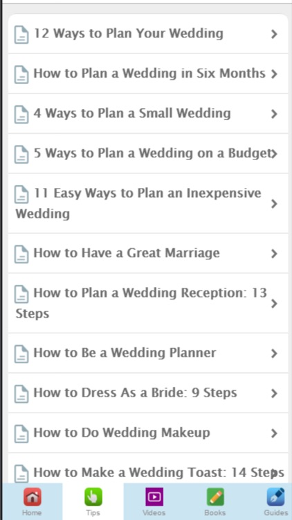 Wedding Tips - Learn to Plan Your Perfect Wedding screenshot-1