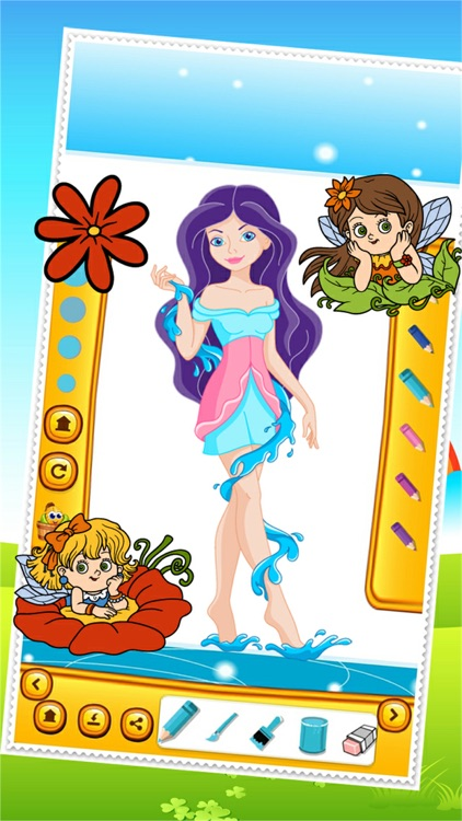 Beauty Fairy Princess Coloring Book Drawing for Kid Games screenshot-4