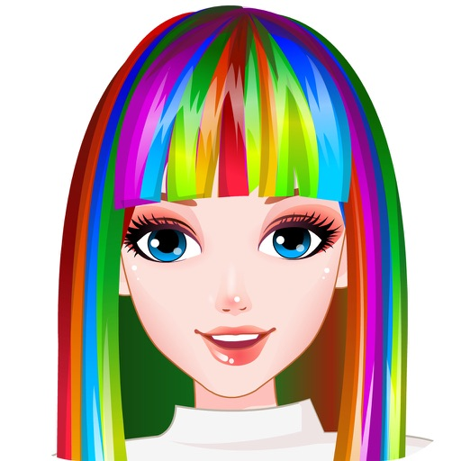 идеально радуга прически HD - самые горячие парикмахерская игры для девочек и малышей!