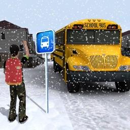 Off Road School Bus Simulator – Snow City Road Trip Driving Warrior