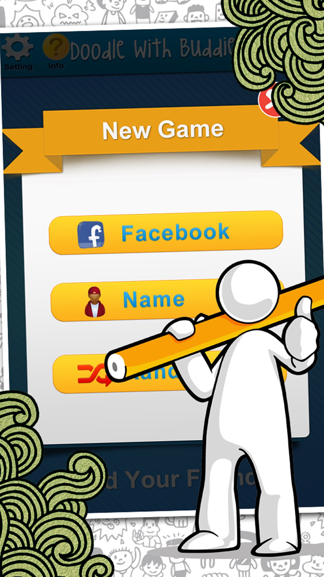Doodle With Buddies : Fun Social Multi-player Drawing and Guessing Free Addicting Game to Play Family and Friends Screenshot