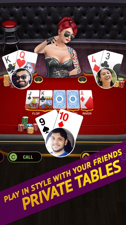 Poker Live! 3D Texas Hold'em by Octro, Inc. - 웹