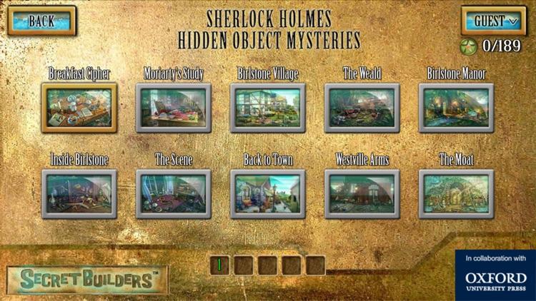 Sherlock Holmes Hidden Object Mysteries