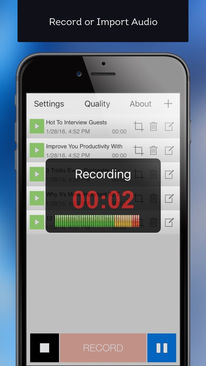 Mobile Podcaster - Record and Publish Your Podcast to WordPress, Libsyn and Dropbox