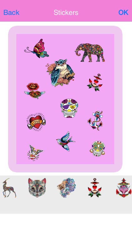 Tattoo Art Sticker Camera - For Your Photo or Pict