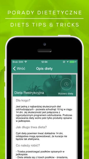 Aplikacja Dieta W App Store