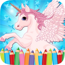 Little Unicorn Colorbook Drawing to Paint Coloring Game for Kids