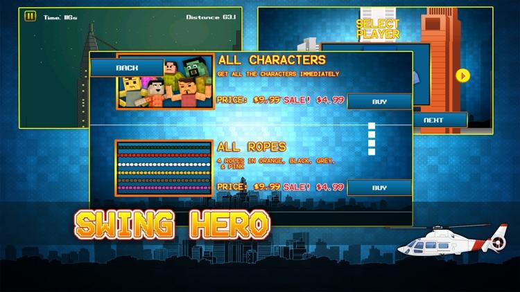 Swing Hero - Superhero Rope n Fly Adventure Game screenshot-3
