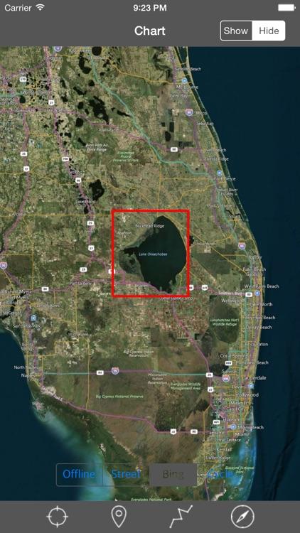 Lake Okeechoobee (Florida)  - Raster Nautical Charts screenshot-4