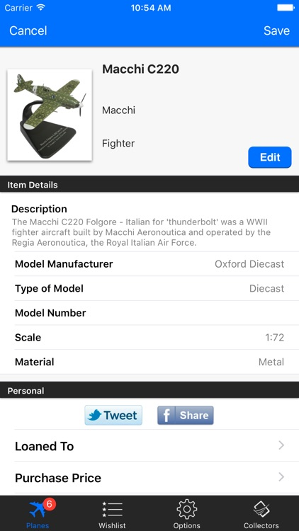 Model Plane Collectors screenshot-1