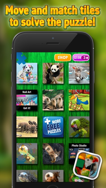 Animals Sliding Puzzle Game – Move and Match Pieces to Put Together Cute Pets Photos screenshot-4