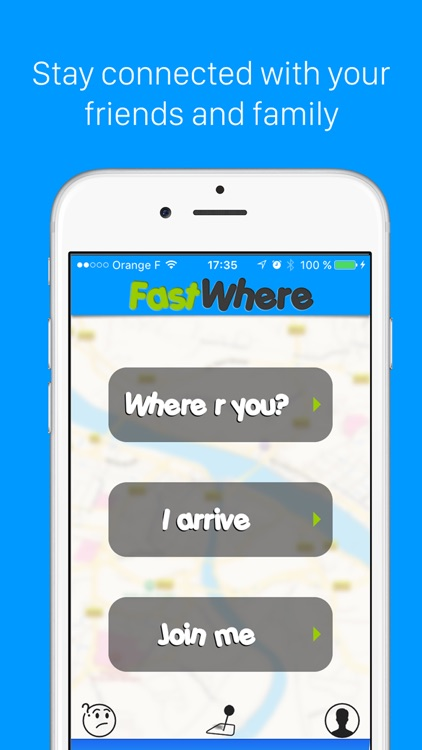 FastWhere - Find GPS location of friends and family in realtime