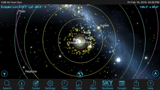 SkySafari 5 Screenshot