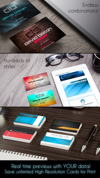 Business Card Creator PRO screenshot-1