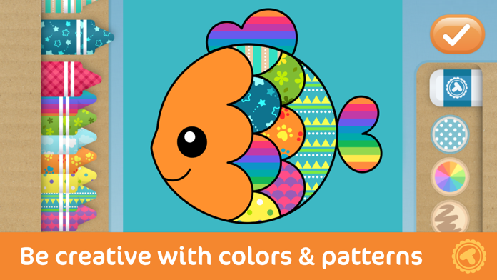 Toonia Colorbook - Educational Coloring Game for Kids & Toddlers Screenshot