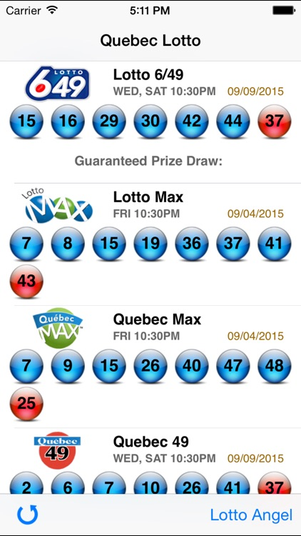 Quebec Lotto - Lotto Angel screenshot-0