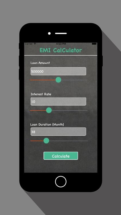 EMI Calculator - For Loan Calc