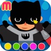 superhero coloring book - painting app for kids  - learn how to paint a super heroes