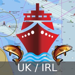 Marine Navigation - UK / Ireland - Offline Gps Nautical Charts / Maps for Fishing, Sailing and Boating