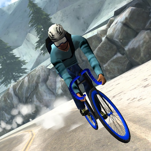 3D Winter Road Bike Racing - eXtreme Snow Mountain Downhill Race Simulator Game FREE