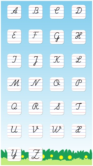 Cursive writing capital letters kids learn to write uppercase cursive writing capital letters kids learn to write uppercase alphabets and shapes on the app store expocarfo