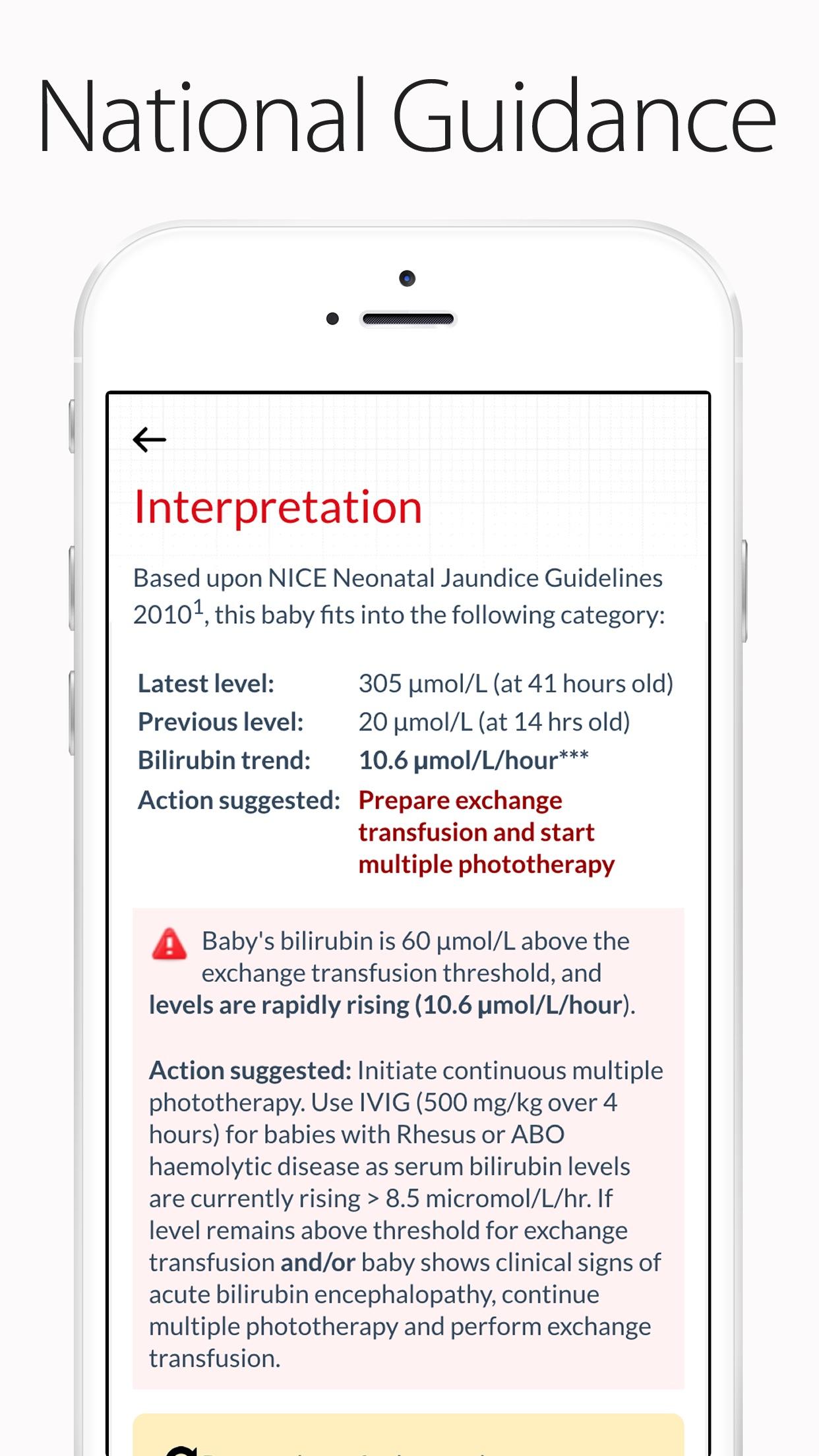 BiliApp - Neonatal Jaundice Charts Screenshot
