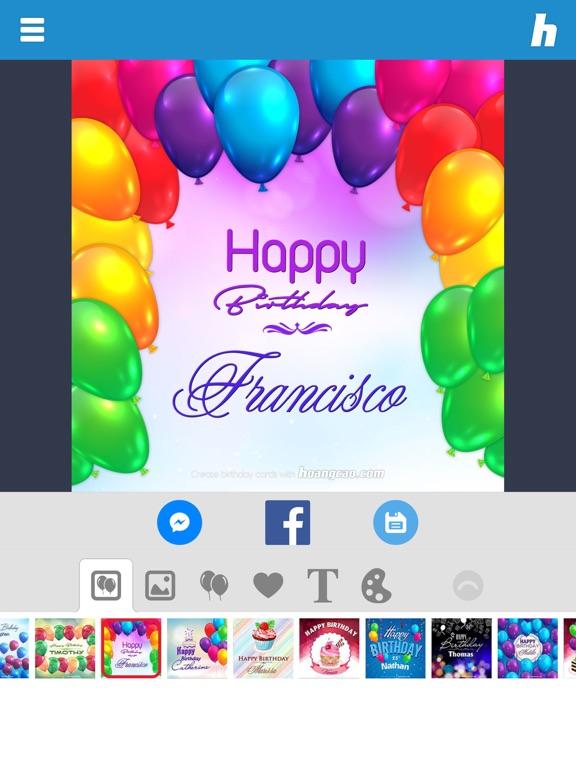 Happy Birthday Card Maker Screenshot