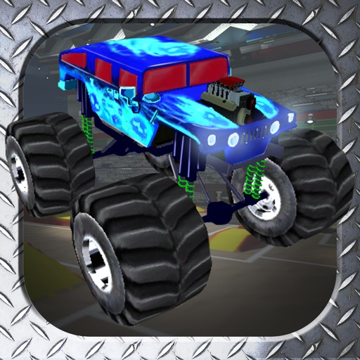 3D Monster Truck Smash Parking - Nitro Car Crush Arena Simulator Game FREE iOS App