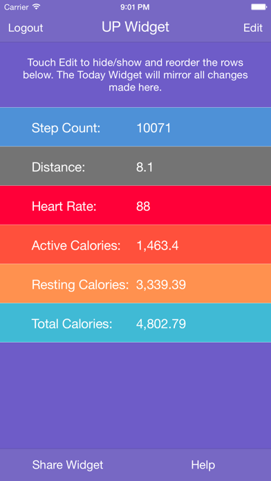 Fit Widget for Jawbone UP - Resting Heart Rate for UP3 & Higherのおすすめ画像3