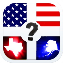 Quiz Pic - US States & Capitals. Educational Trivia Game For All Ages