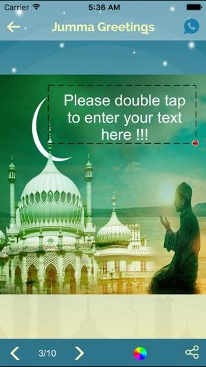 Add text create jumma mubarak emojis greetings on the app store iphone screenshots m4hsunfo