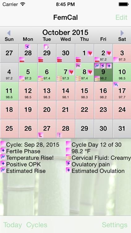 FemCal: Period and Ovulation Calendar