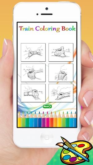 Zug Malbuch - nette Zeichnung für Kinder Gratis-Spiele im App Store