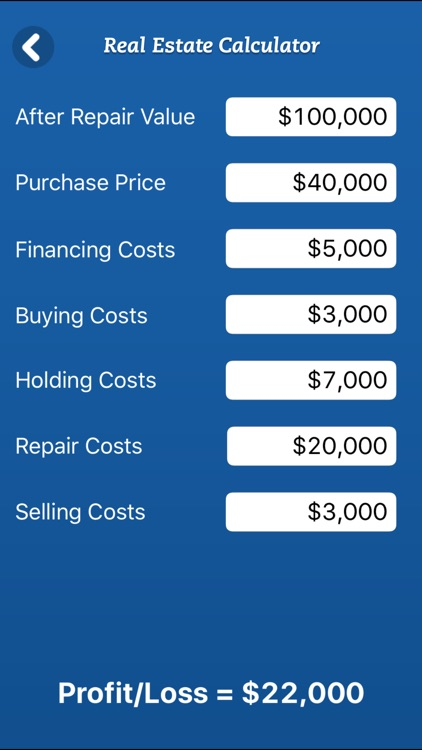 House Flipping Spreadsheet Real Estate Investors screenshot-3
