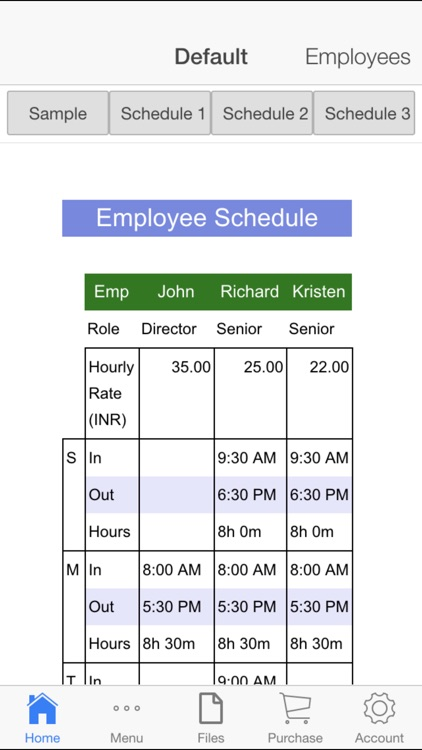 Employee Schedule screenshot-0