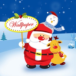 Santa Wallpaper Live Maker - Retina Photo Backgrounds of Xmas Tree, Light & Santa Claus