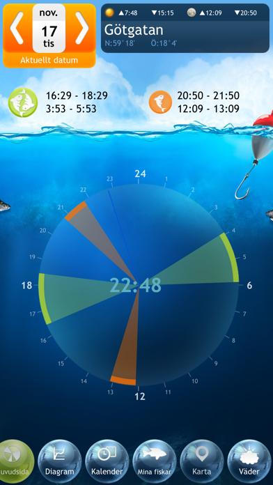 Fiske Deluxe - Månfas Kalender på PC